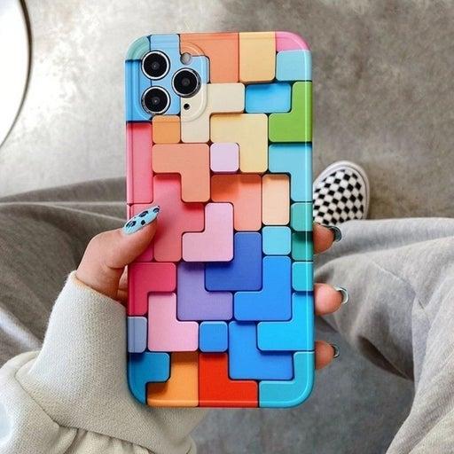 Iphone 12 Pro Max Case Geometric puzzle