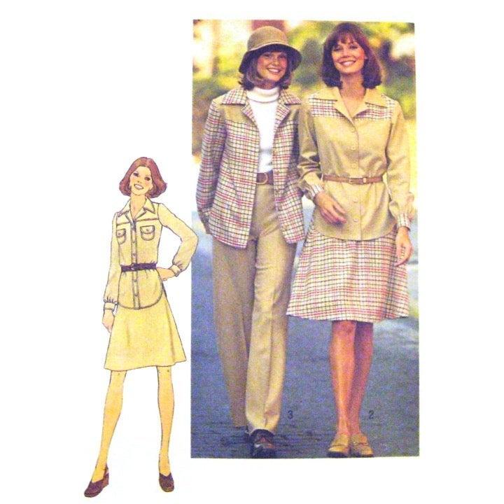 70s Simplicity 7124 Skirt Pants Shirt 12