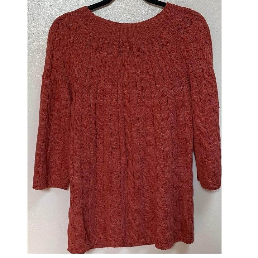 Plus Size Quarter Sleeve Avenue Sweater
