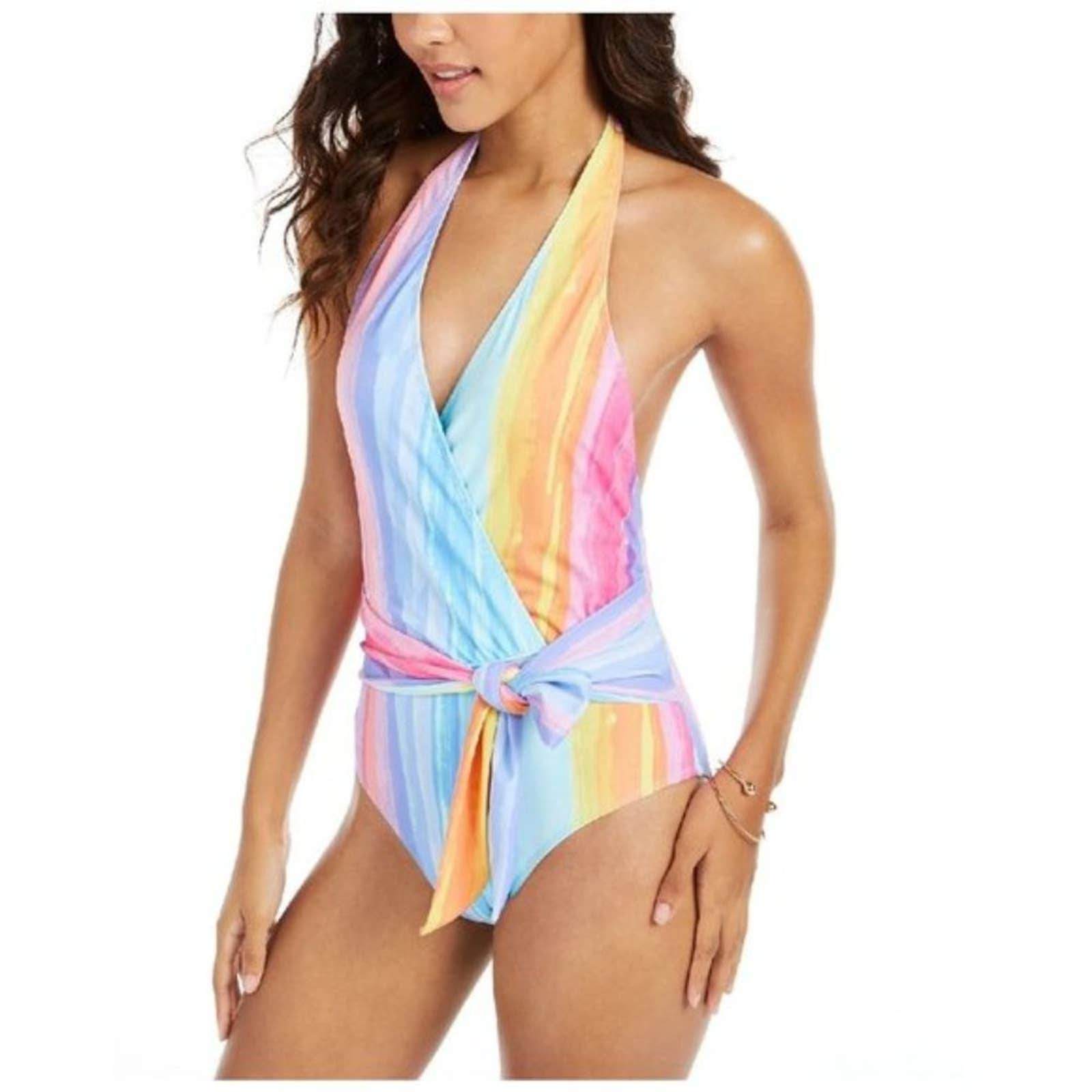Rachel Roy Watercolor One Piece Swimsuit