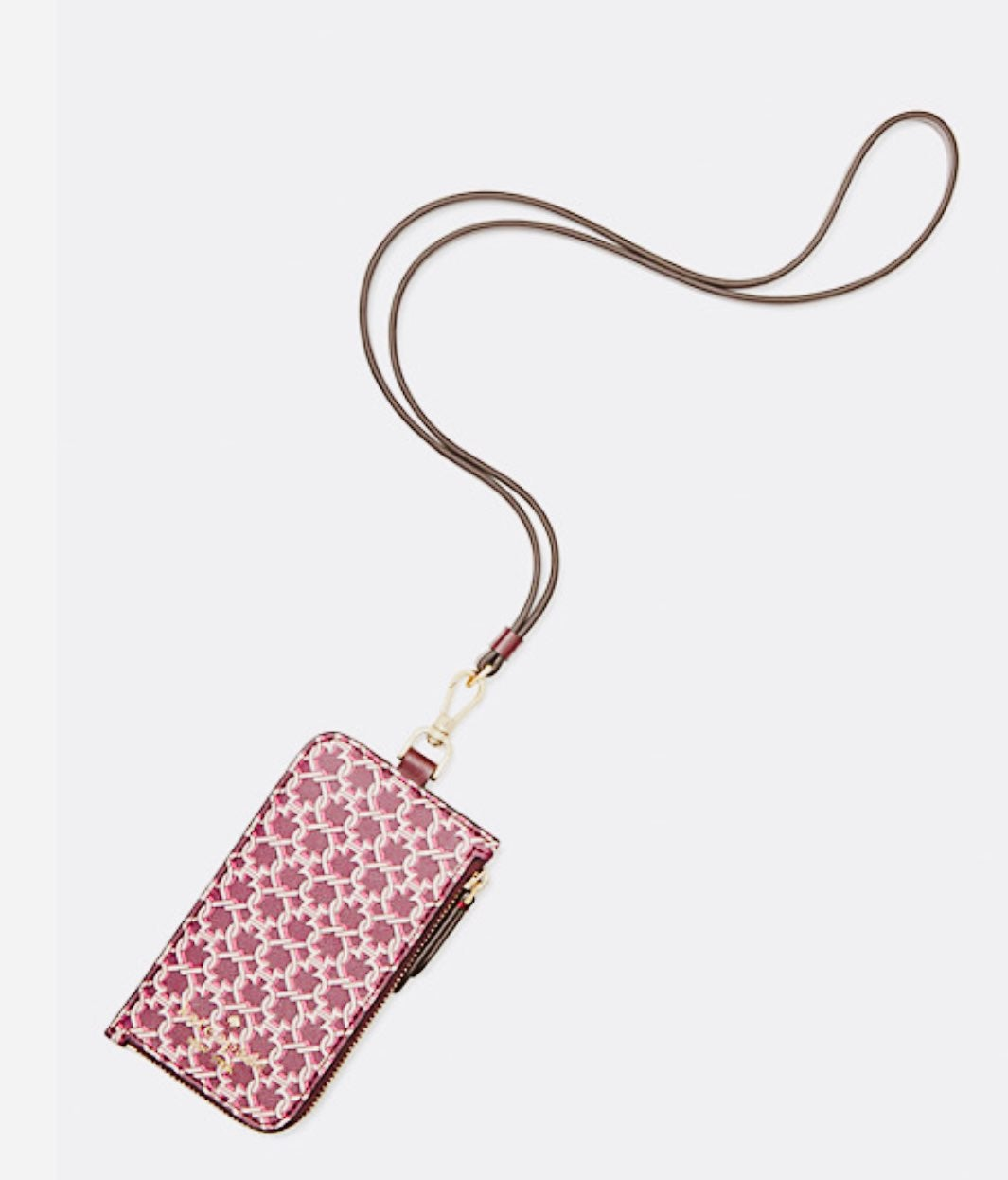 Kate spade link card case lanyard
