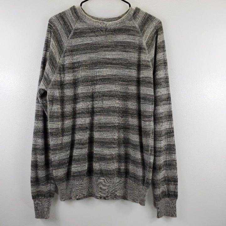 Billy Reid Stripe Long Sleeve Sweatshirt