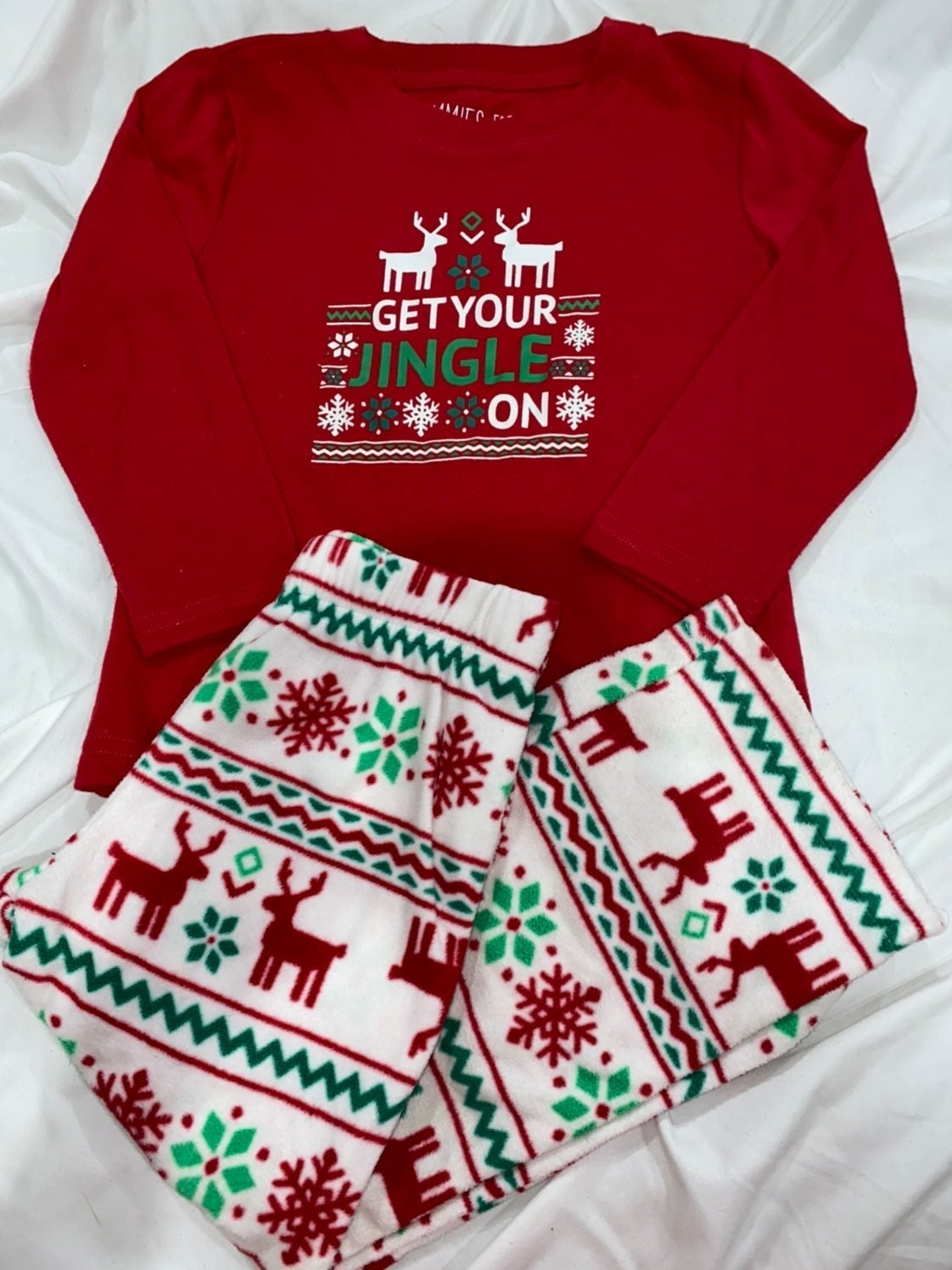 Matching Christmas Pajamas Boys 3T