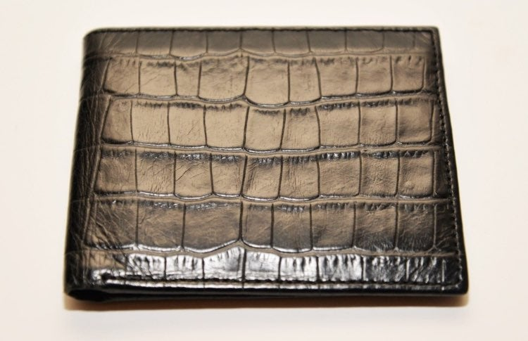 Banana Republic Blk Croc Leather wallet