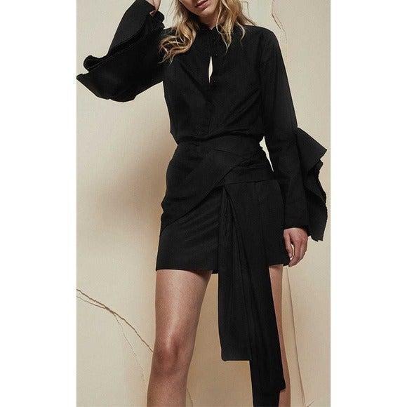 ACLER Ambrose Tie Mini Skirt
