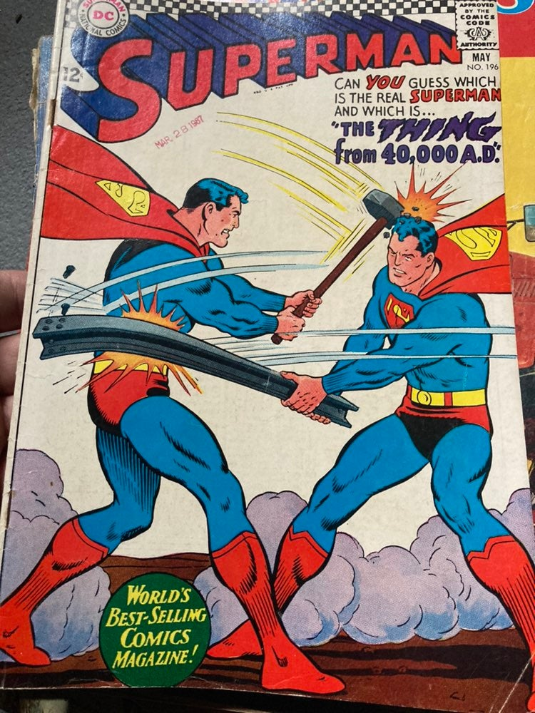 Superman DC comic book