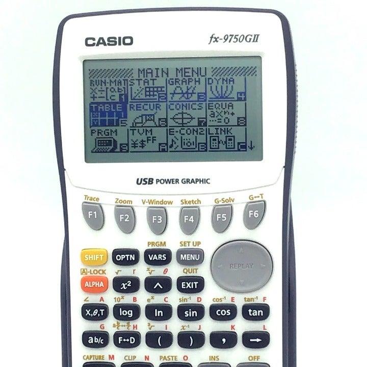 CASIO FX-9750GII Calculator Power USB