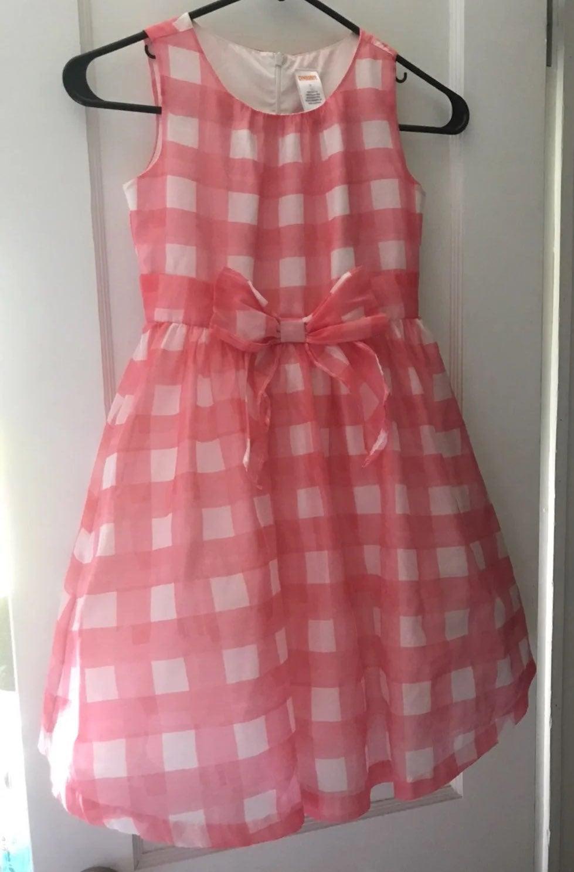 Pink & White Gingham Dress Gymboree