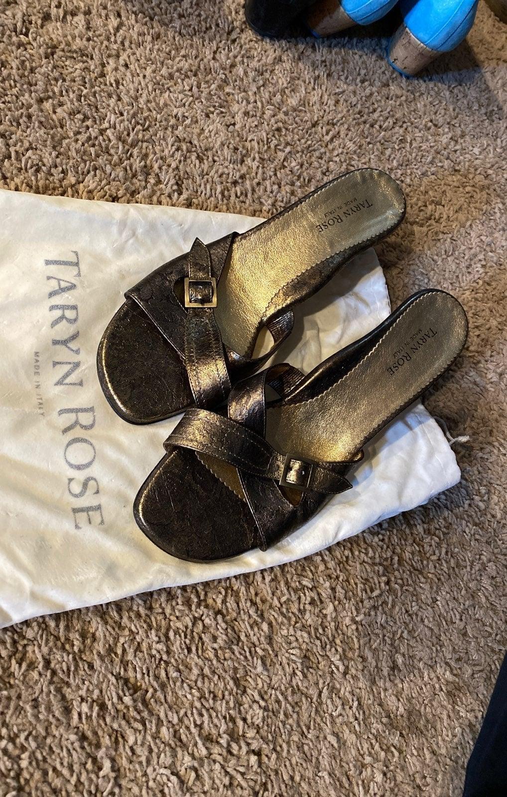 Gold Sandals with Heel