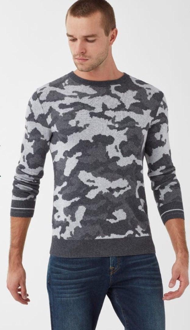 Splendid Camo Crewneck Sweater