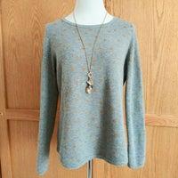 d2ec4106fdfa1e LOFT Polka Dot Pullover Sweater L Gray