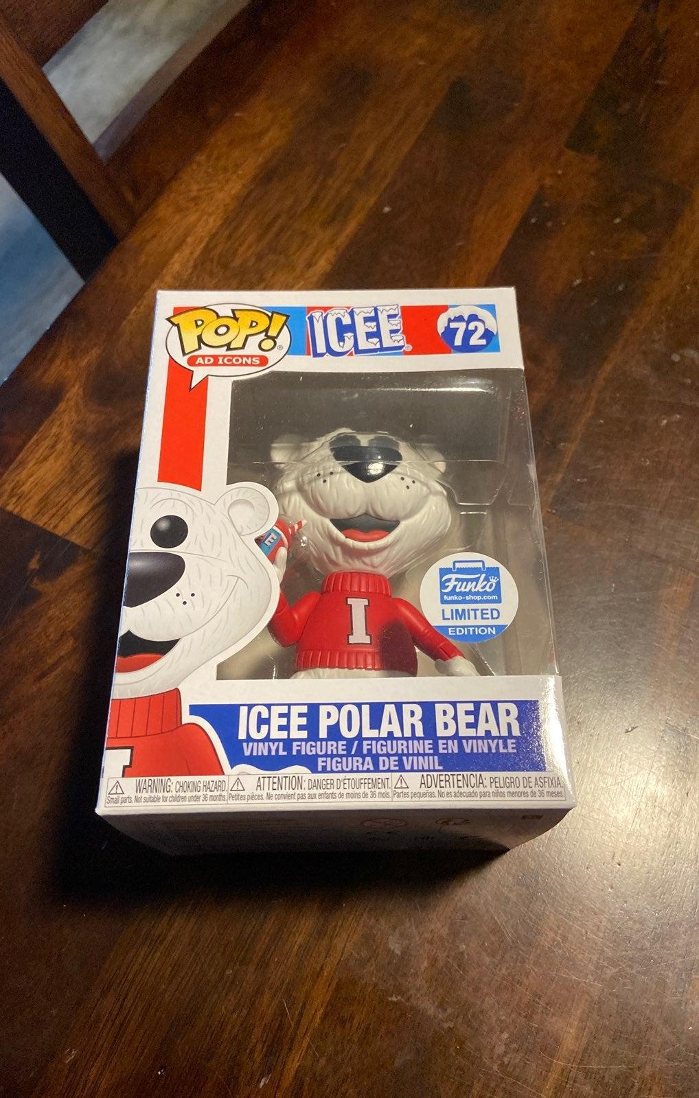 Icee Polar Bear 72 Funko Pop Ad Icon NIB