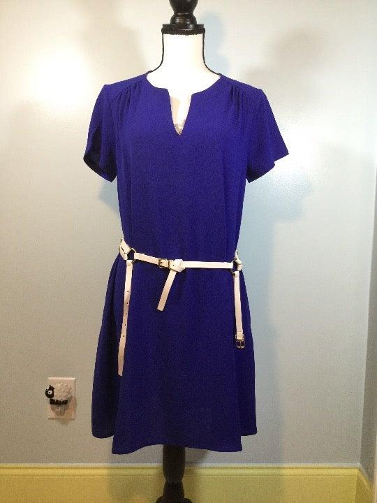 Lush Split Neck Cobalt Dress size S