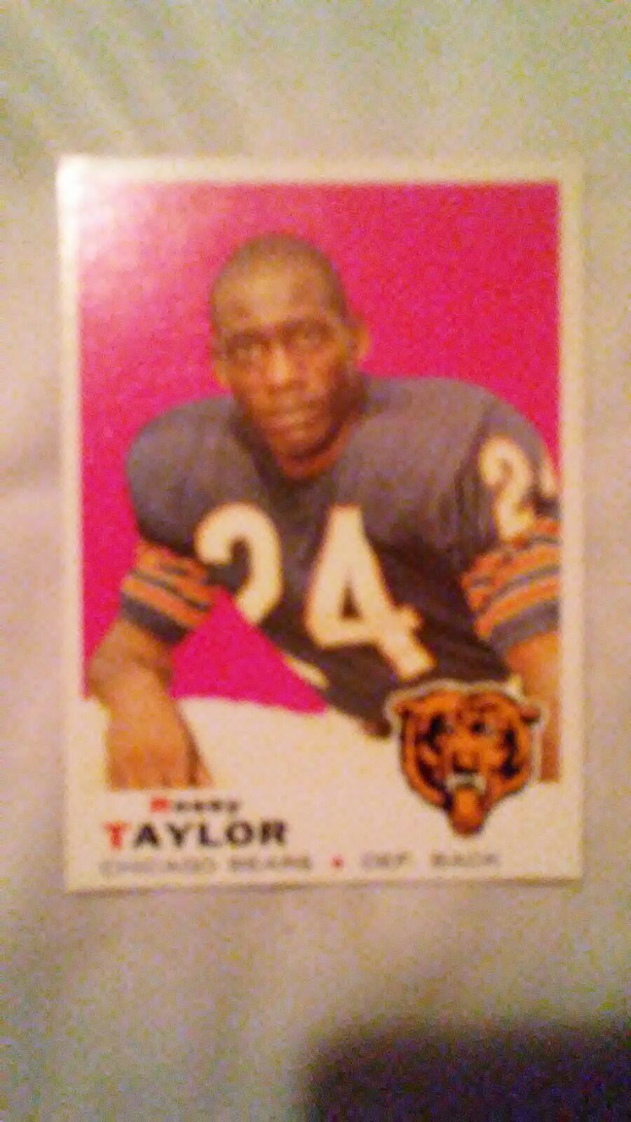 1969 Rosey Taylor football card