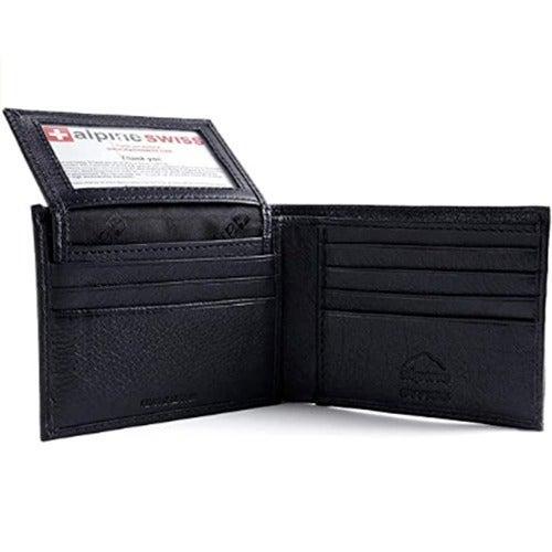 Alpine Swiss Leather Men's Wallet Bifold