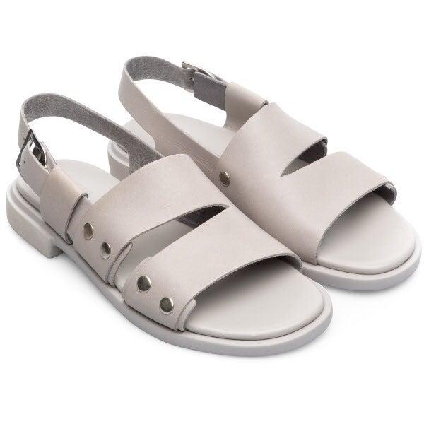 Camper Edy leather sandals grey stud 7