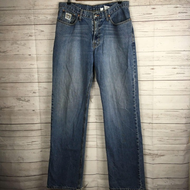 Cinch White Label Mens 35x36 Blue Jeans