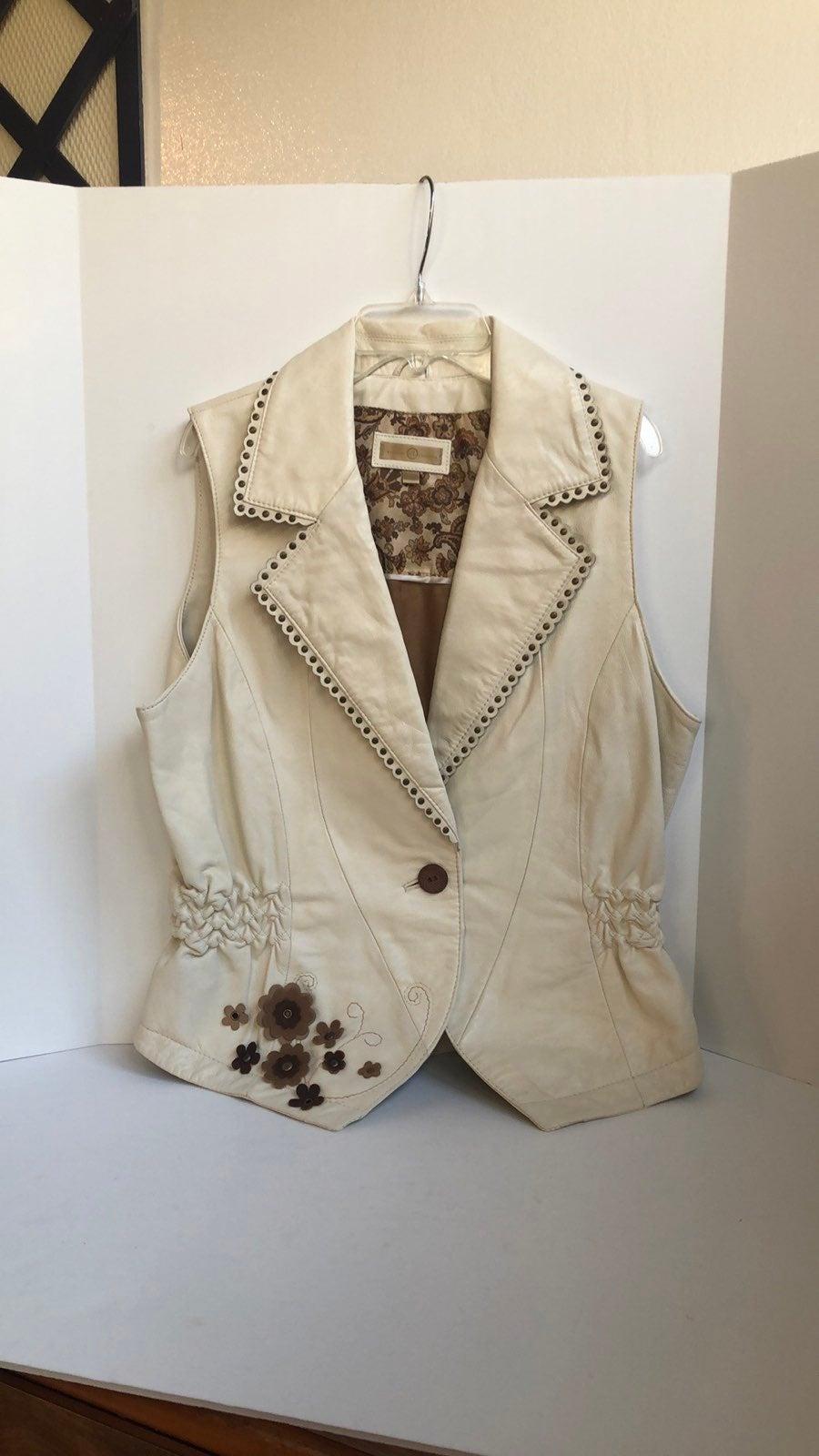 Wilson leather studded collar vest