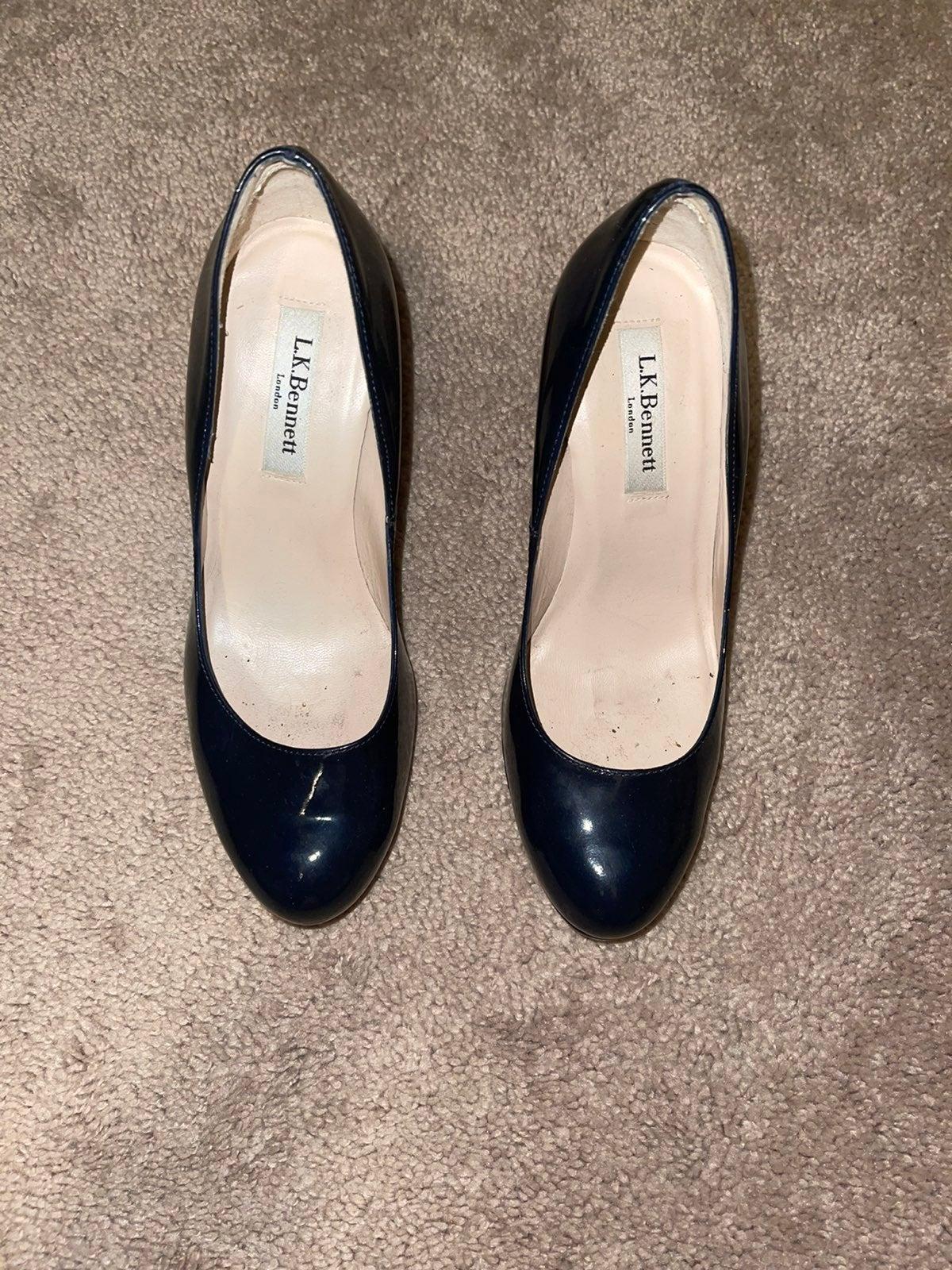 LK Bennet Navy Sledge Heels