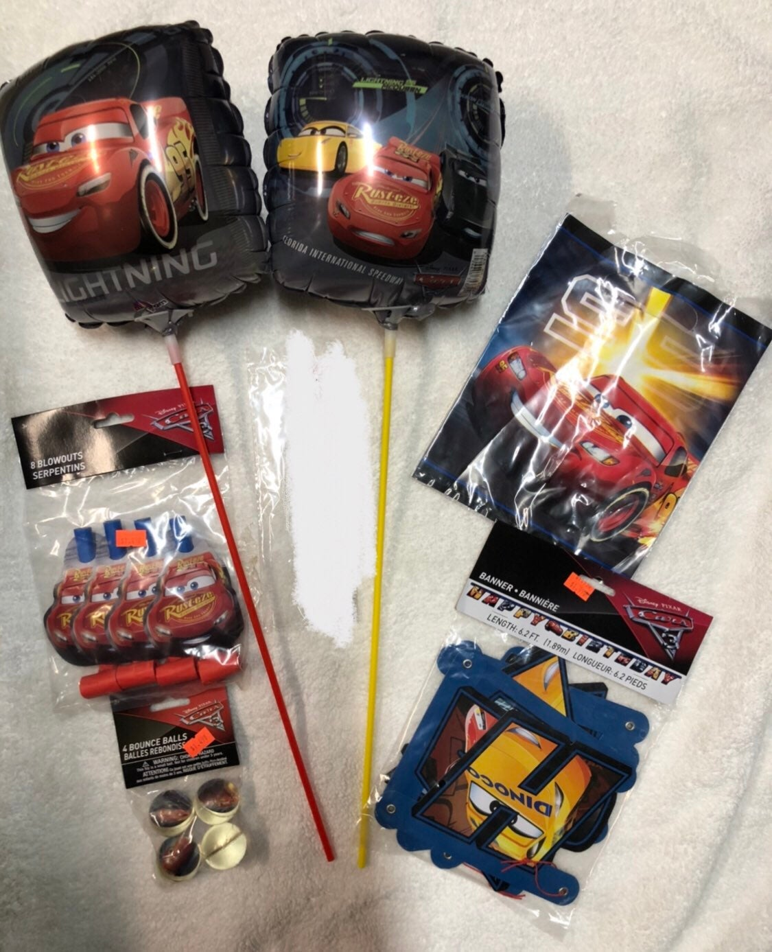 Disney Cars 3 Party Supplies