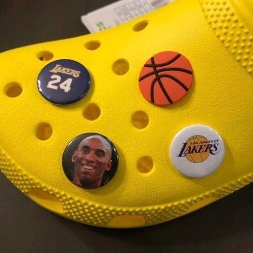 4 Kobe Bryant Shoe Charms for Crocs