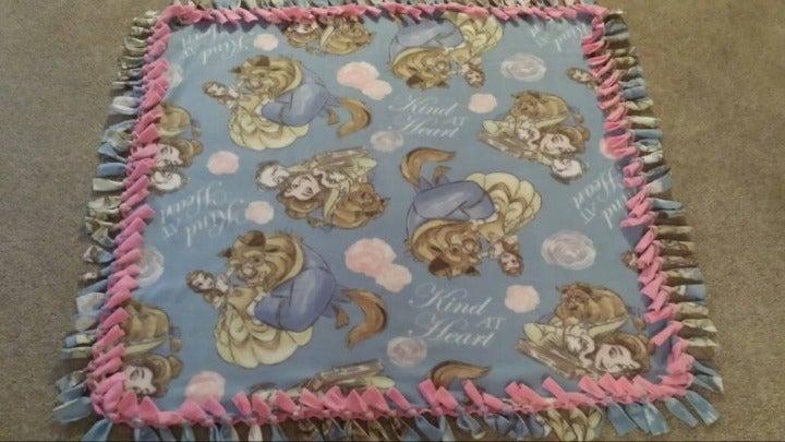 Beauty and the Beast Fleece Blanket