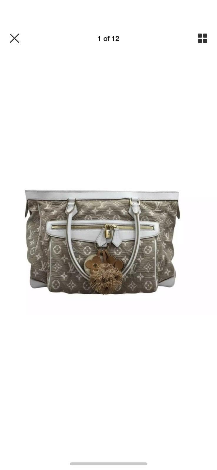 Louis Vuitton Jacquard Tote Purse Bag