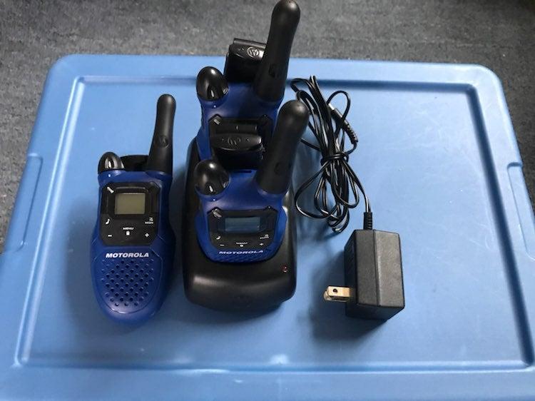 3 Motorola 2 Way Radios
