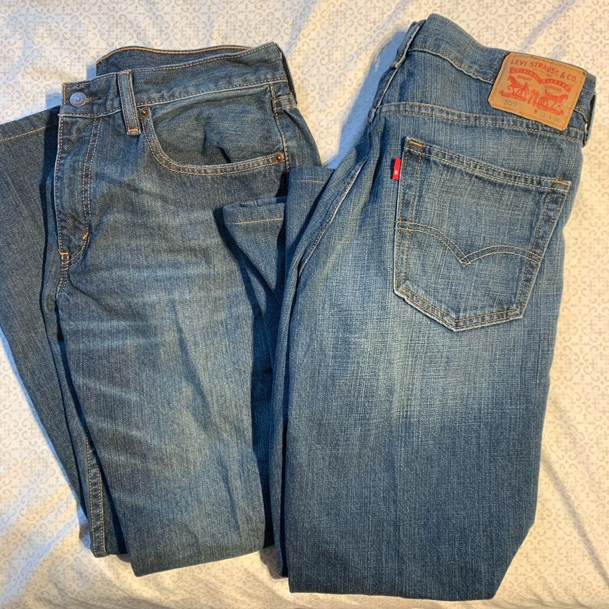 Mens levis straight leg jeans