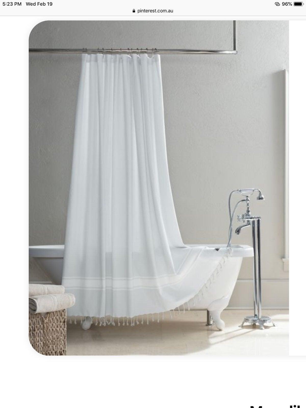 UGG Costa Mesa Cotton Shower Curtain NWT