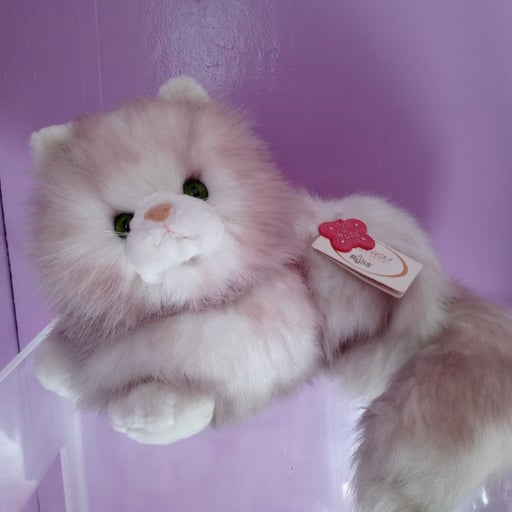 Russ and co vintage cat plush bnwt grey
