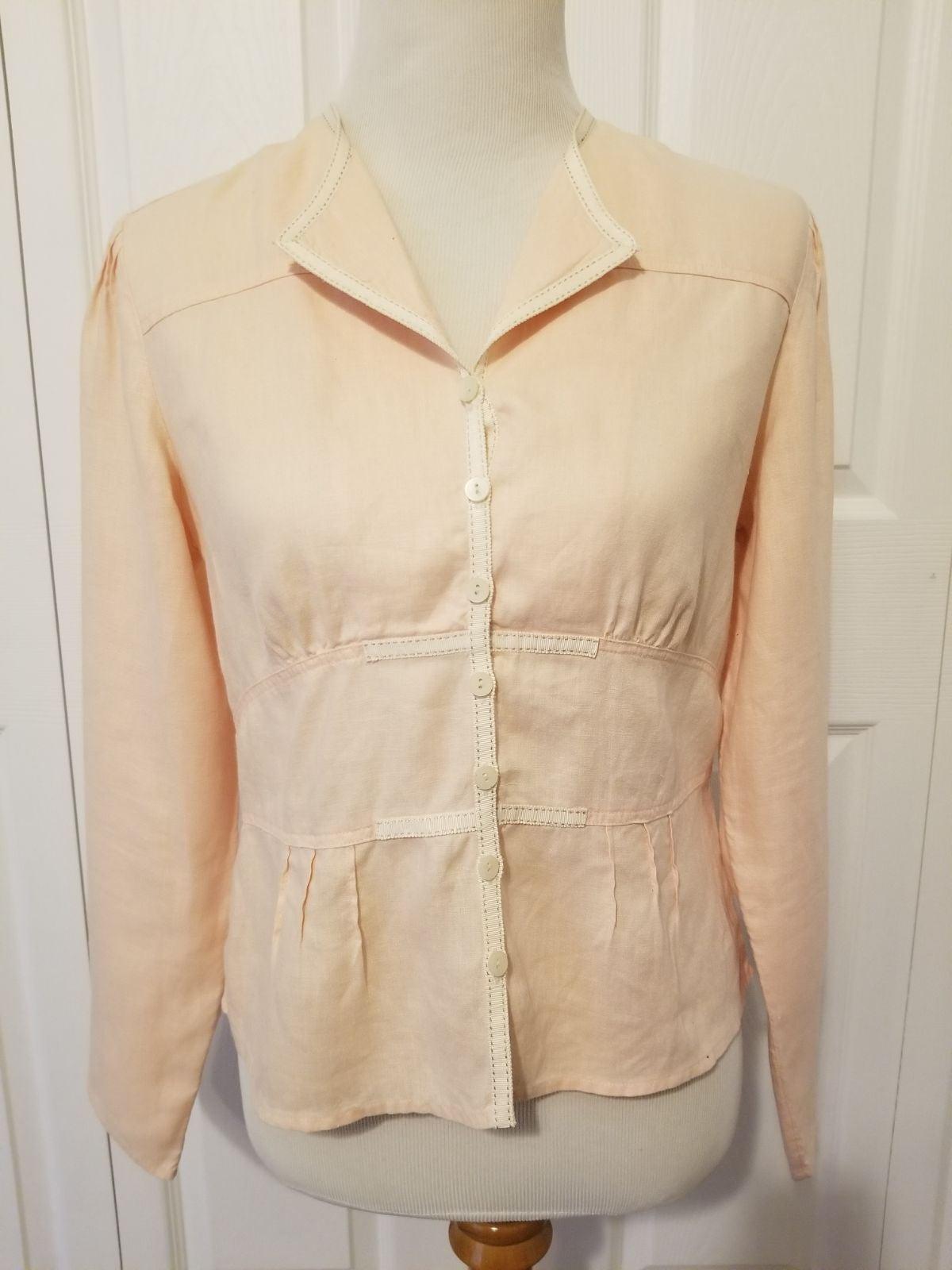 J.Jill peach linen blouse - size 4