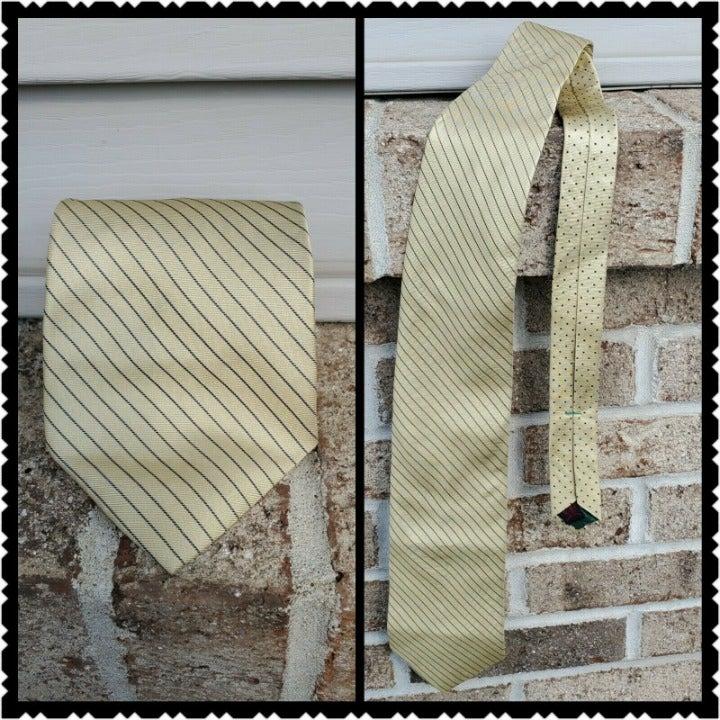 Tommy hilfiger Tie Mens Gold Blue Stripe