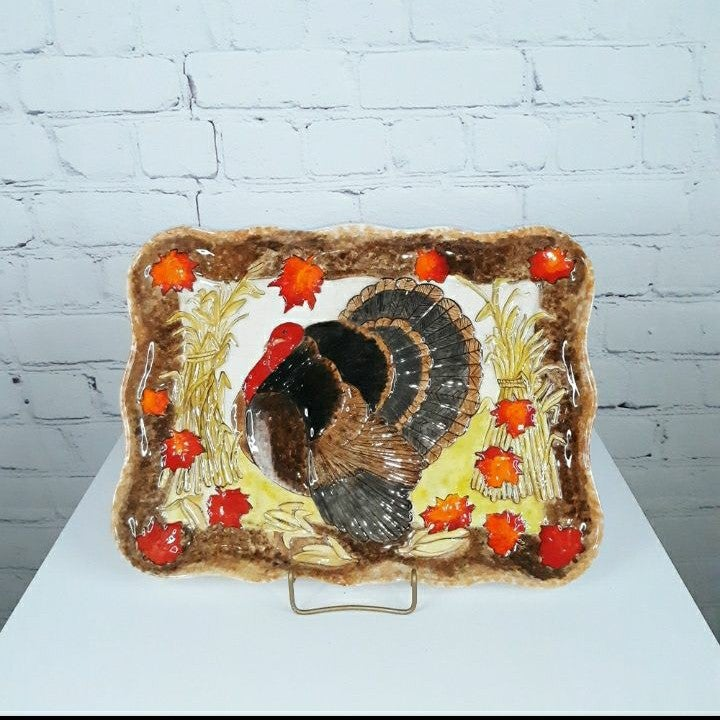 VTG DUNCAN Thanksgiving Turkey Platter