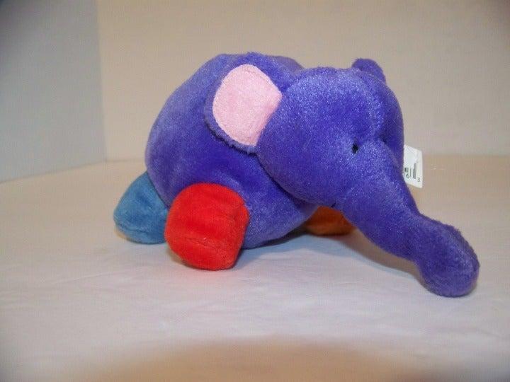 russ plush elephant purple baby toy