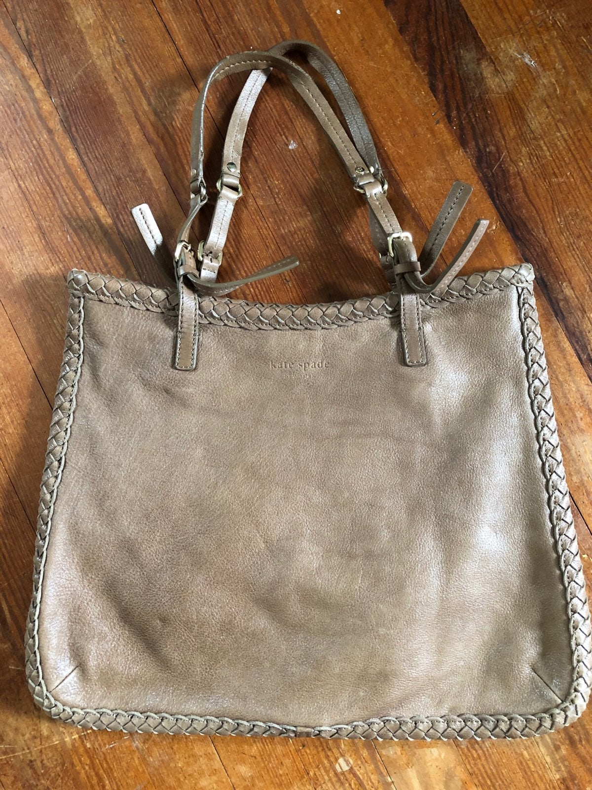 Kate Spade Braided Trim Leather Tote