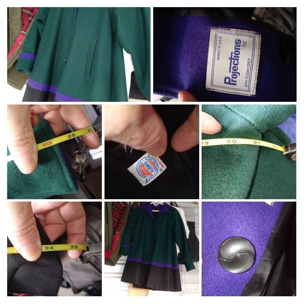 1960s projections color block ladys coat