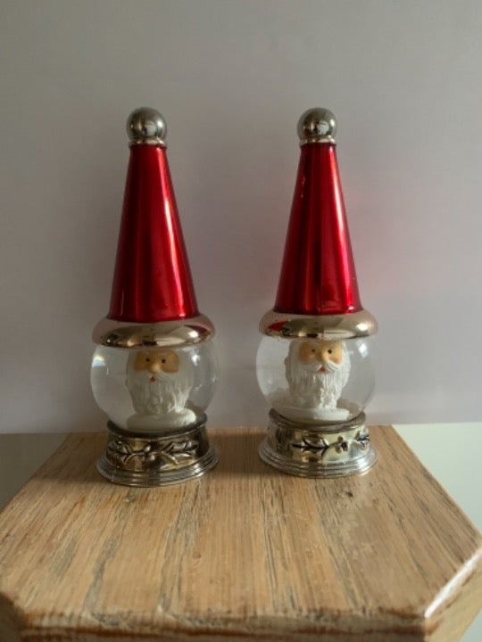 Santa Snow Globe Salt & Pepper Shakers