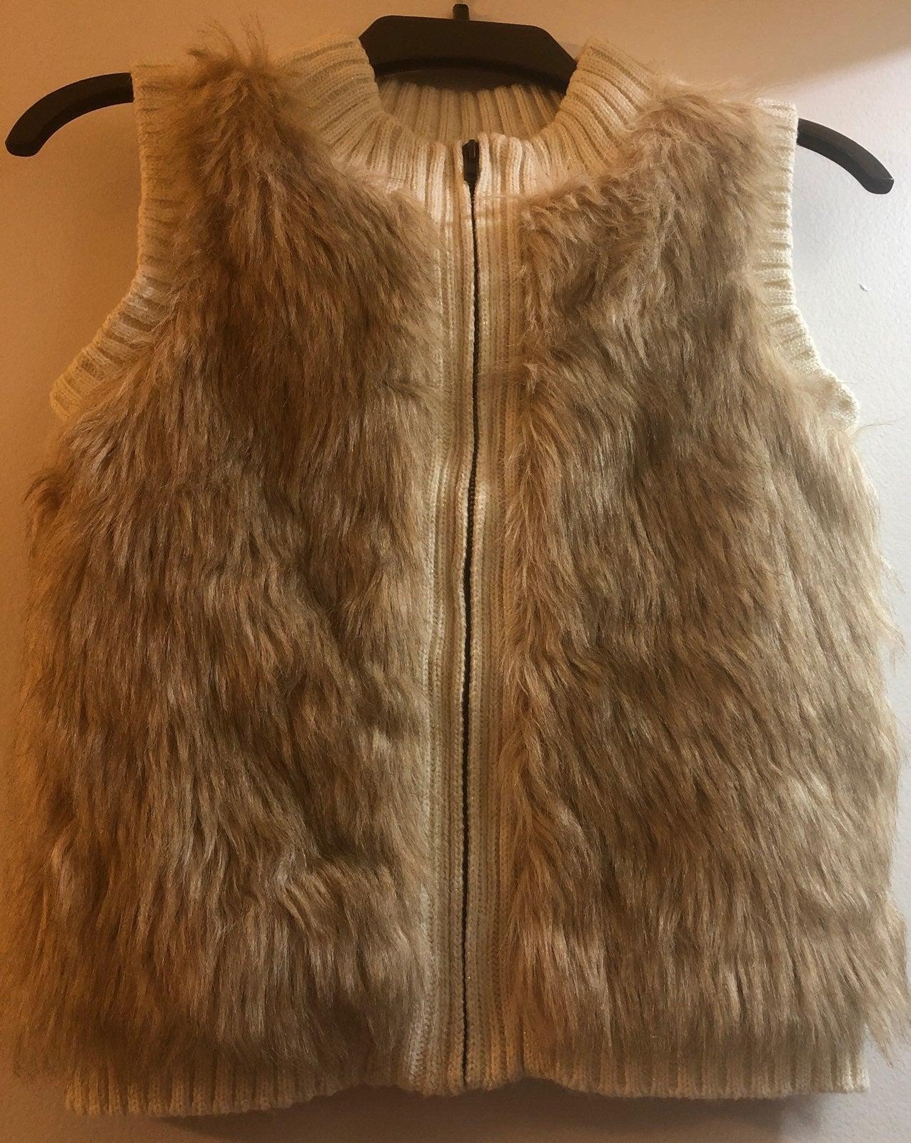 Faux Fur Little Girls Vest