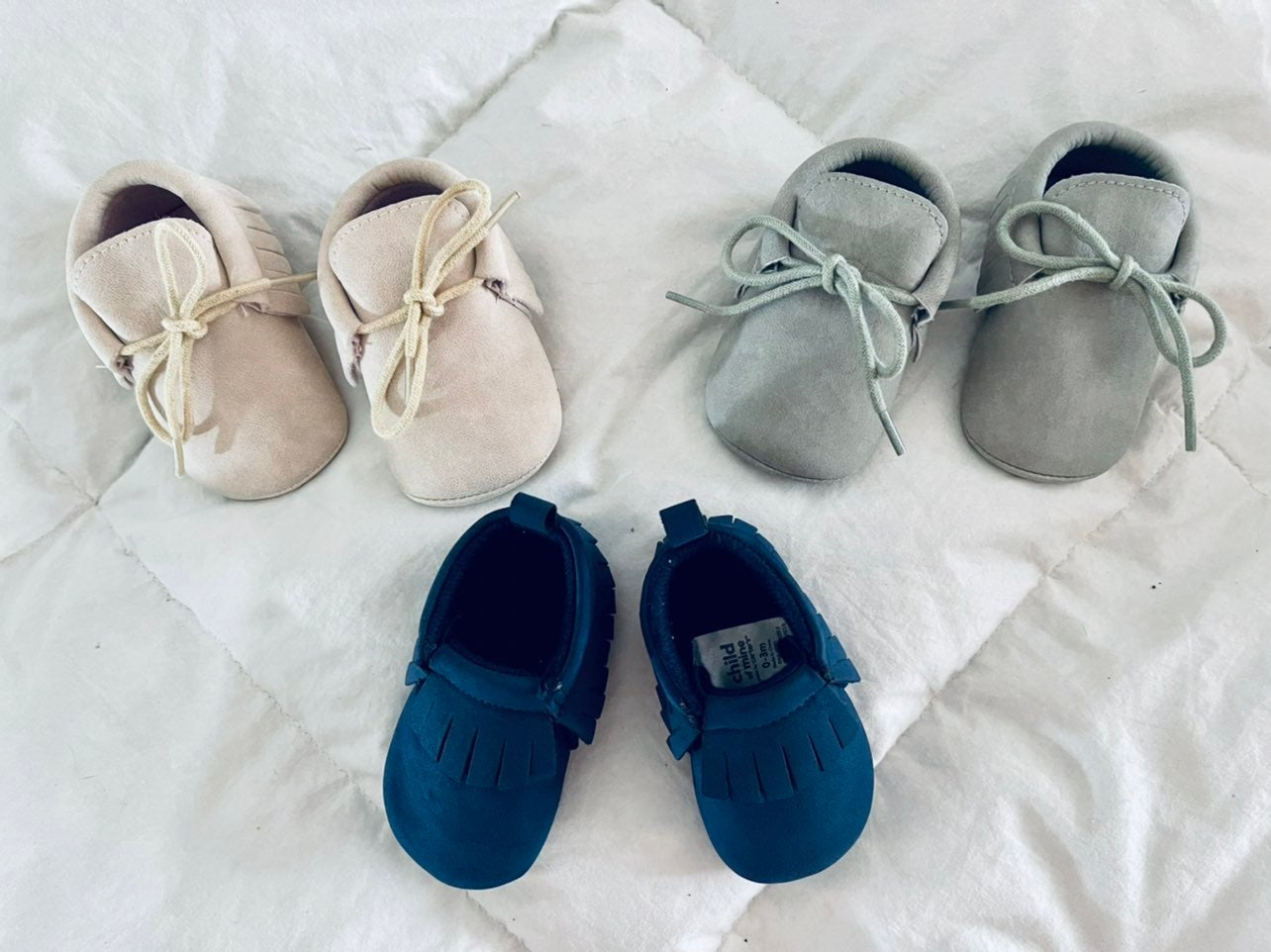 baby moccasins 0-6 months