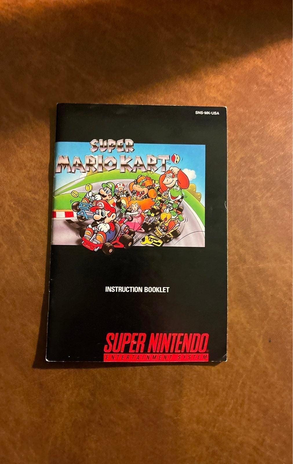 Super Mario Kart instruction manual