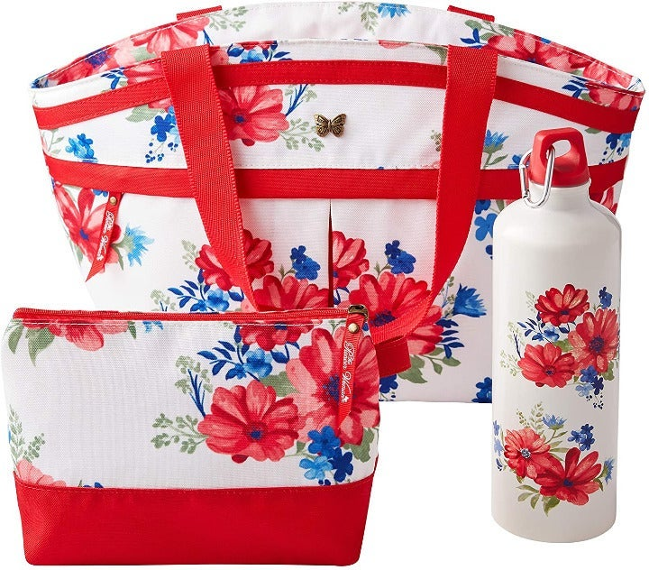 Pioneer Woman 3 Piece Lunch Tote Set