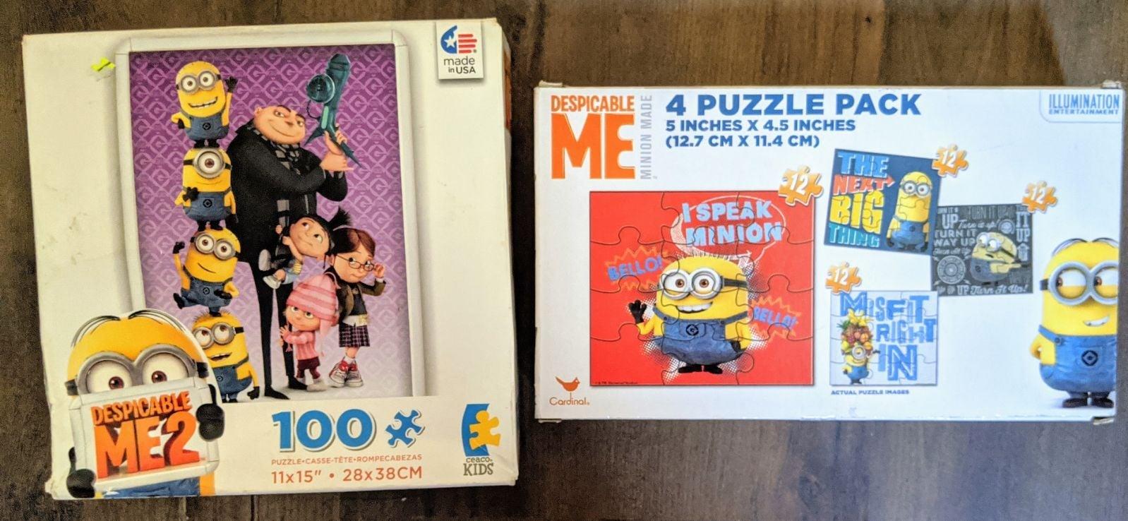 Despicable me minions puzzles