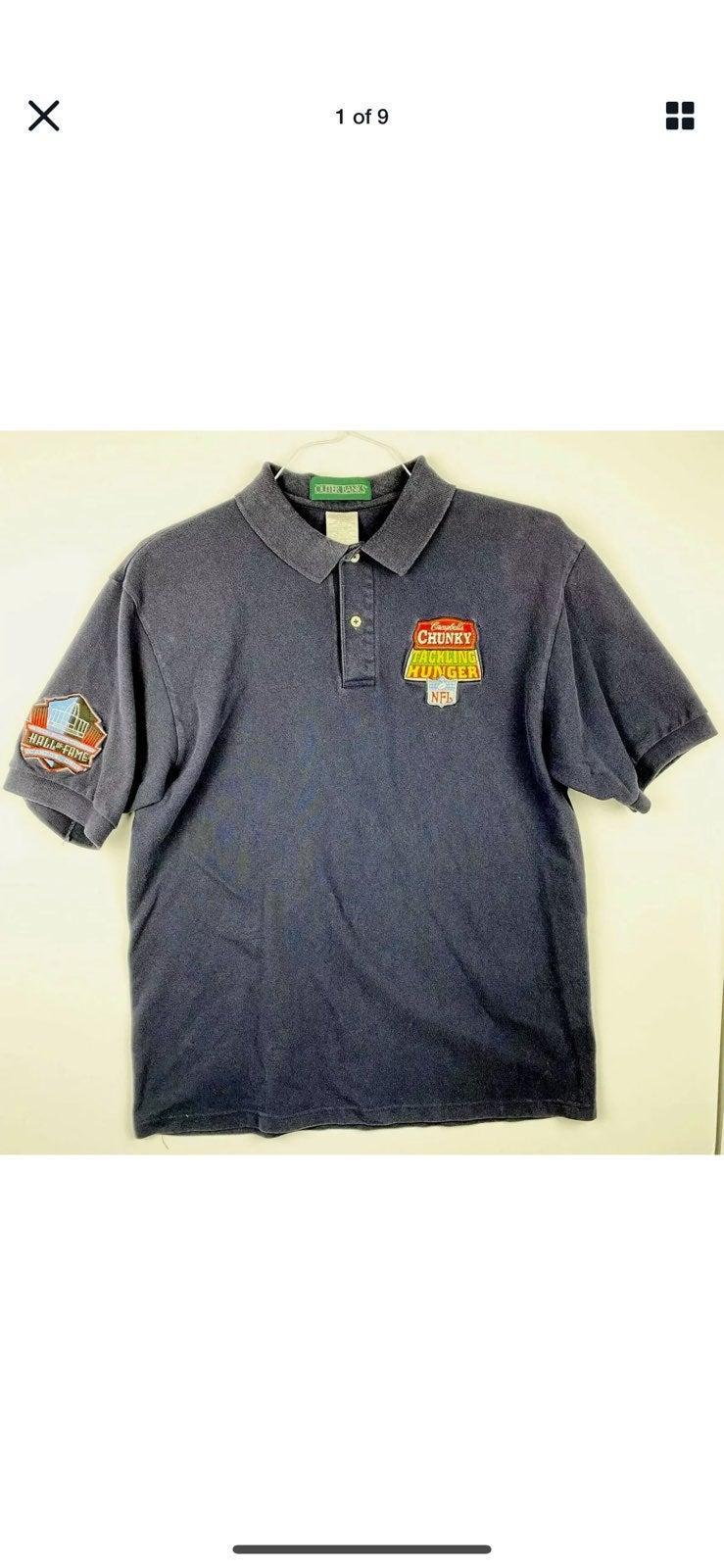 NFL Hall of Fame Large Blue Polo Shirt