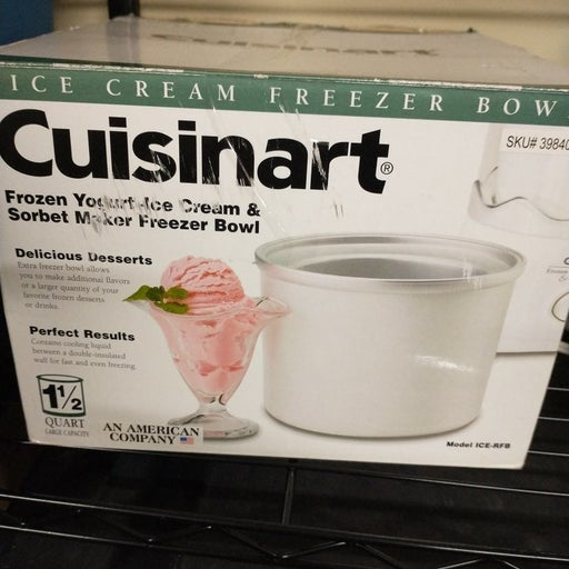 New With Box Cuisinart Ice Cream Bowl