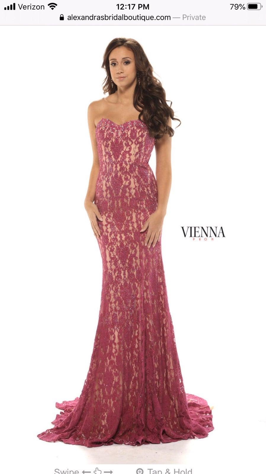 Vienna prom magenta size 0 dress gown