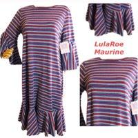 7b75f1886cb LulaRoe Maurine Striped dress Bell NEW M