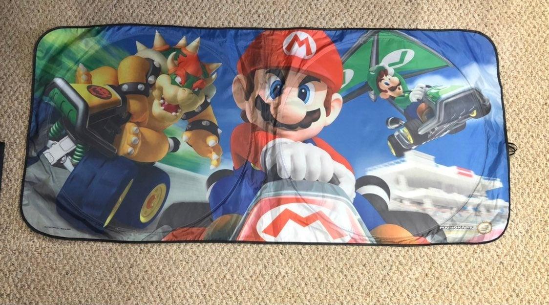 Mario Kart car sunvisor
