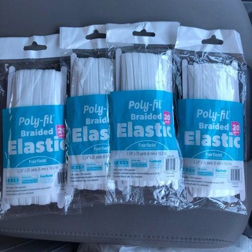 Set of 4 -Poly-fil Braided Elastic 20yds