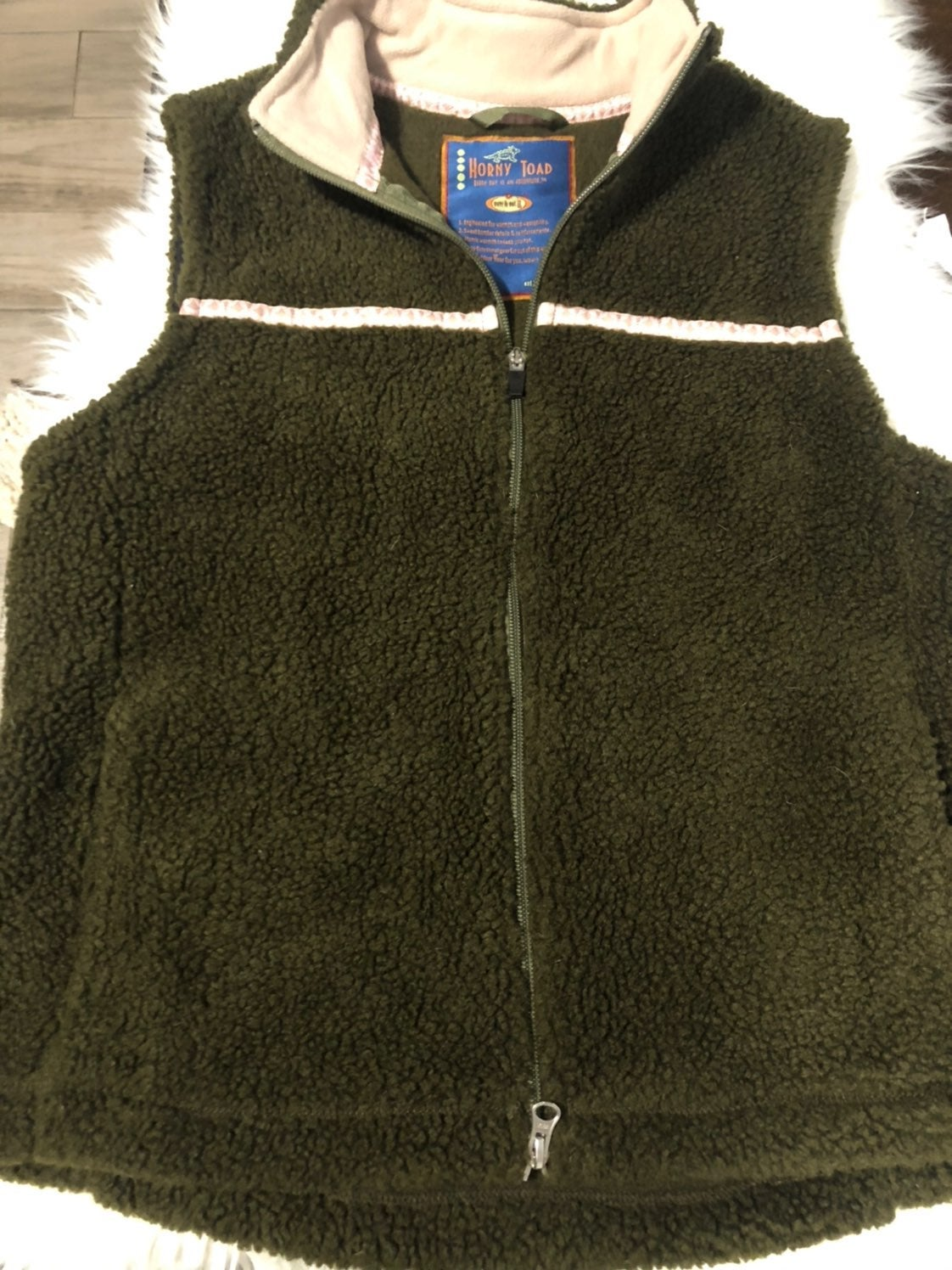 horny toad womens fleece vest